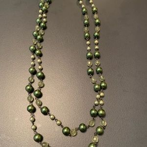 Nordstrom | Green Beaded Rope Necklace